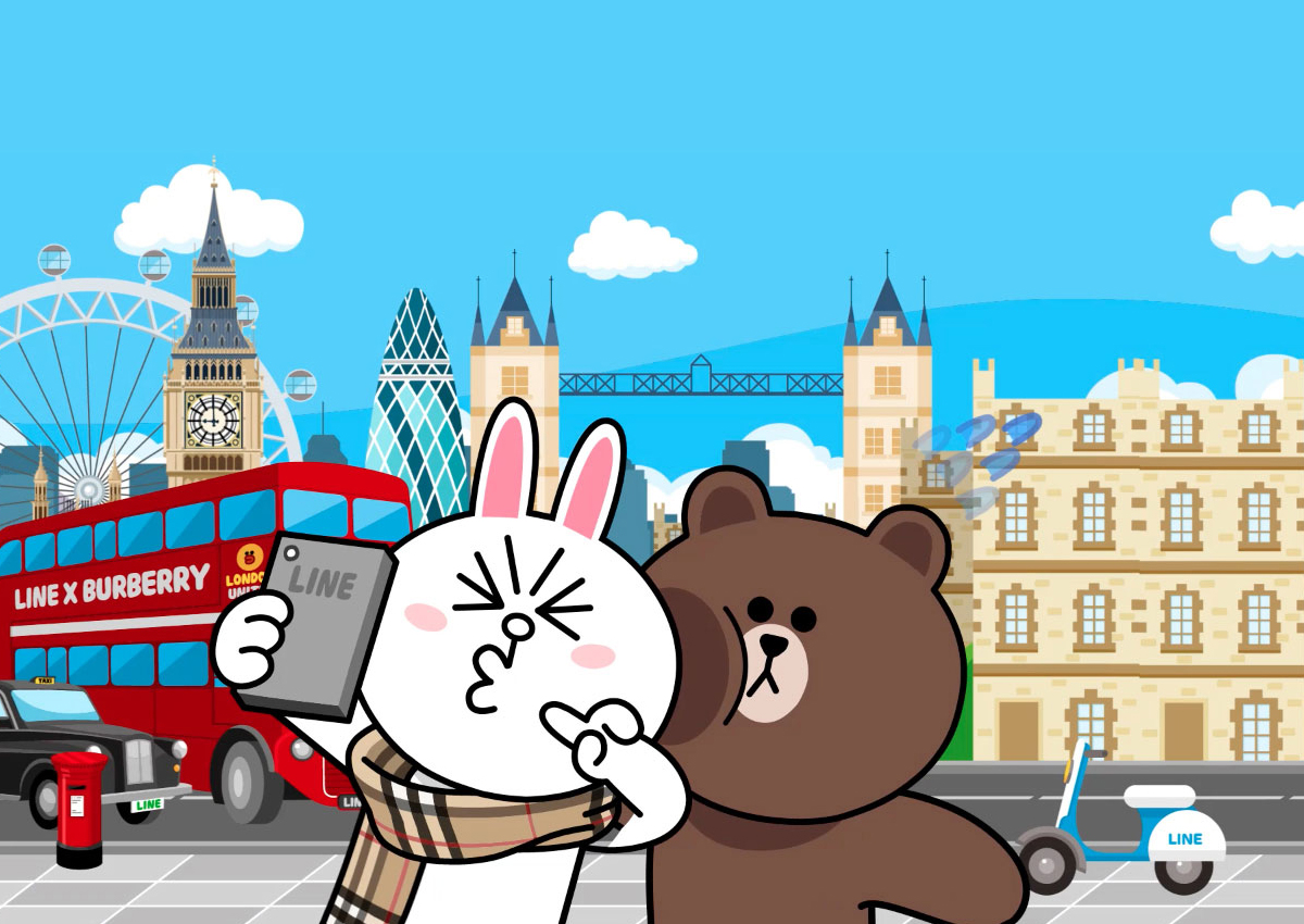 burberry brown cony line
