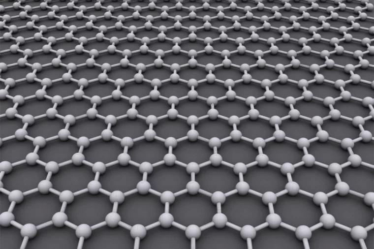 石墨烯由碳原子形成的原子尺寸蜂巢晶格结构