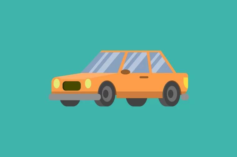卡通 车 Cartoon car