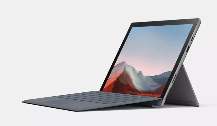 Microsoft Surface Pro 7 plus table