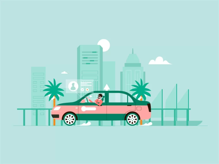 take a car 打车