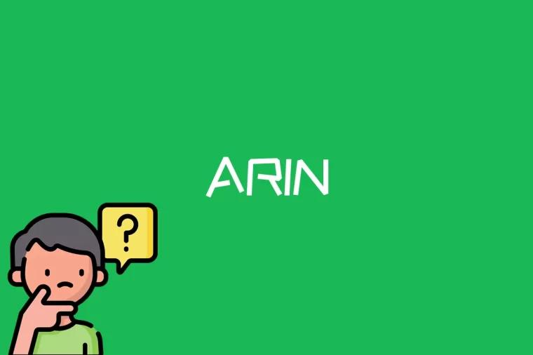 ARIN是什么